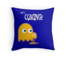 He's coming!! Throw Pillow