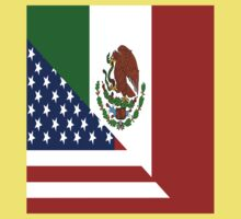 Mexican America Flag Kids Tee