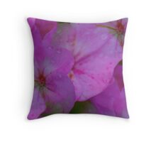 Raindrops On Petals Throw Pillow