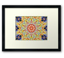 Kaleidoscope Patterns Framed Print