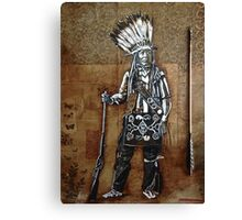 Indian with Rifle and Arrow Canvas Print