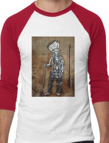 Indian with Rifle and Arrow Men's Baseball ¾ T-Shirt