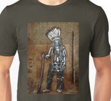 Indian with Rifle and Arrow Unisex T-Shirt