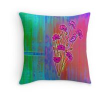 Wall flower with textured colour enhanced  Throw Pillow
