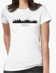 Sochi Russia Cityscape Womens Fitted T-Shirt