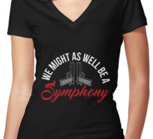 Shoot: Symphony Women's Fitted V-Neck T-Shirt
