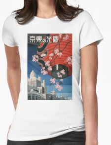 Tokyo, Japan vintage Travel Poster Womens Fitted T-Shirt