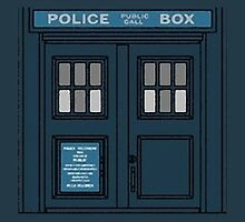 Police Box Pillow by dystopic
