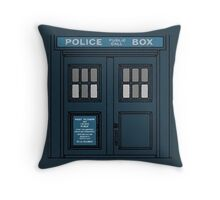 Police Box Pillow Throw Pillow