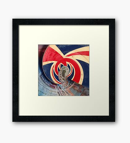 British Wave! God save the sea! Framed Print