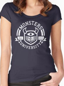 Monsters university Women's Fitted Scoop T-Shirt