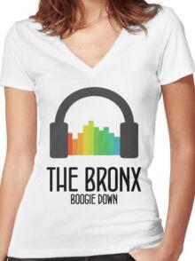 BRONX Women's Fitted V-Neck T-Shirt