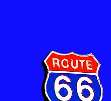 Route 66 in Neon by johnnycdesigns