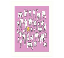 Tooth or Dare, Bold Illustration Art Print