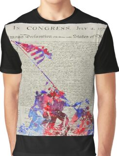 Iwo Jima Delcaration of Freedom Graphic T-Shirt