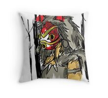 Princess of the forest Throw Pillow