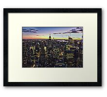 New York City Skyline - NYC - Night Framed Print