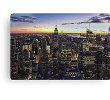 New York City Skyline - NYC - Night Canvas Print