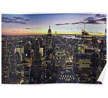 New York City Skyline - NYC - Night Poster
