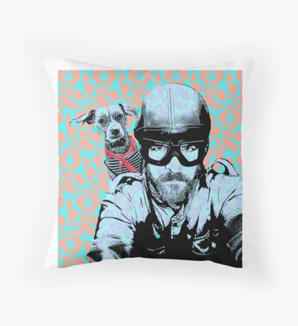 Two friends Throw Pillow