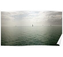 Sailboats on Cleveland Bay Poster