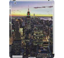 New York City Skyline - NYC - Night iPad Case/Skin