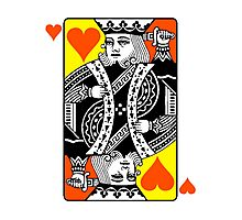 KING (OF HEARTS) Photographic Print