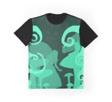 Alice in wonderland cutout Graphic T-Shirt