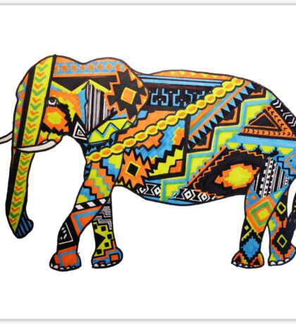 Aztec Elephant Sticker