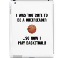 Cheerleader Basketball Too Cute iPad Case/Skin