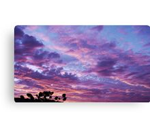 Command Post Sunset Canvas Print