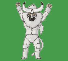 Bull Man - White Costume by ninjacafe