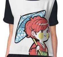 persona 3 femc in kimono with umbrella Chiffon Top