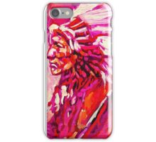 Indian Chief in pink and orange iPhone Case/Skin