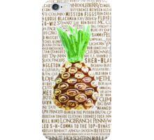 Psych Burton Guster Nicknames - Television Show Pineapple Room Decorative TV Pop Culture Humor Lime Neon Brown iPhone Case/Skin