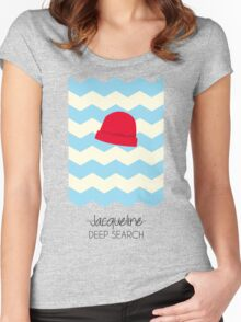 Jacqueline Deep Search, The Life Aquatic Women's Fitted Scoop T-Shirt