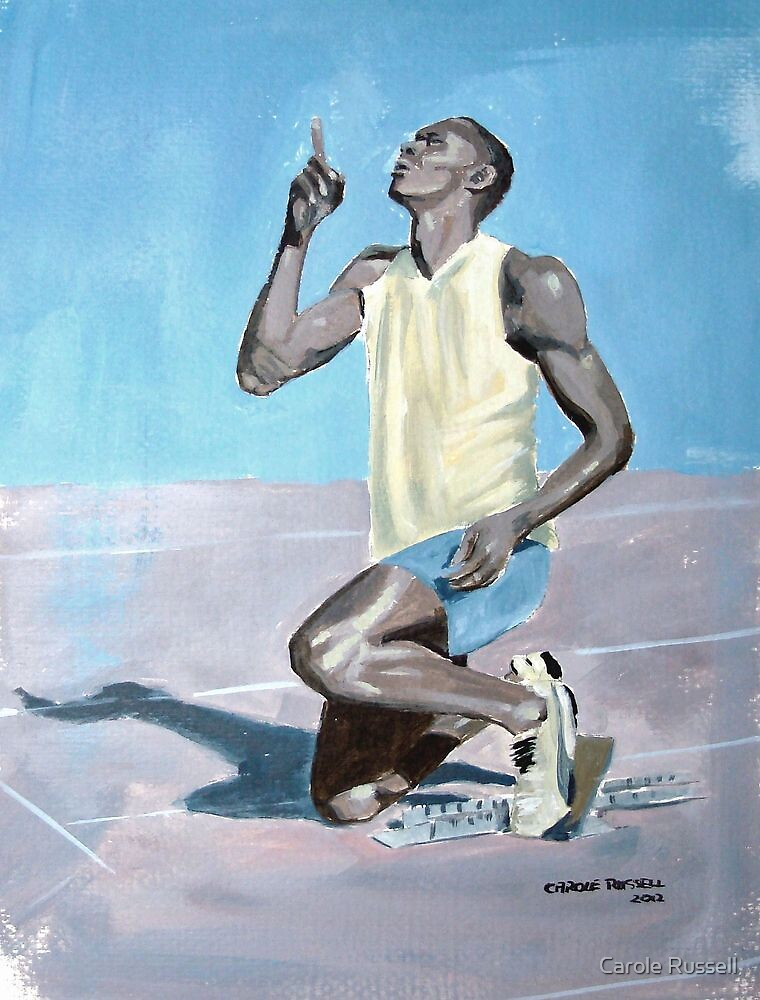 Usain Bolt by Carole Russell