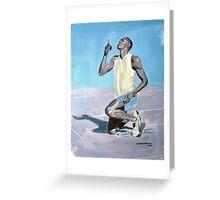 Usain Bolt Greeting Card