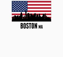 Boston MA American Flag Unisex T-Shirt