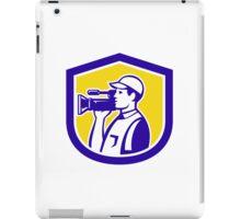 Cameraman Film Crew HD Camera Video Side Retro iPad Case/Skin