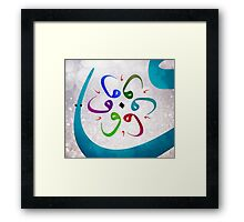 "arabic letter ""Waw"" graffiti grunge abstract art Framed Print"