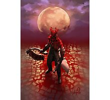 Blood Drenched Hunter Photographic Print