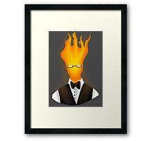 Fireman Grillby Framed Print