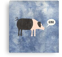 Oink Canvas Print