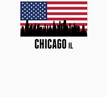 Chicago IL American Flag Unisex T-Shirt