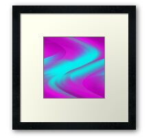 DREAM PATH (Purples, Fuchsias & Turquoises)-(9000 x 9000 px) Framed Print