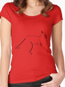 Kangaroo in 10 strokes Women's Fitted Scoop T-Shirt