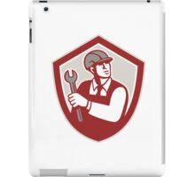 Mechanic Holding Wrench Shield Crest Retro iPad Case/Skin
