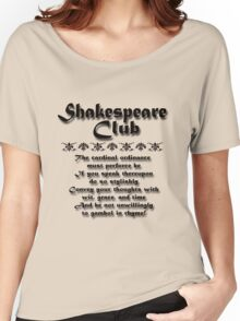 Shakespeare Club Women's Relaxed Fit T-Shirt