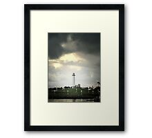 Lions Lighthouse Framed Print